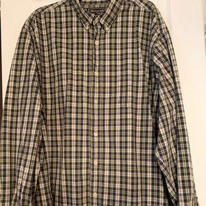 Abercrombie & Fitch Plaid Shirt Men's XXL Green